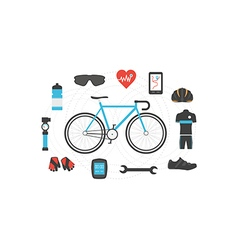 212bicycle isolated vector image