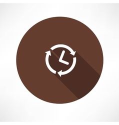 24 hours a day concept icon vector image