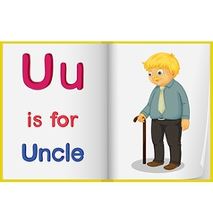 A picture of an uncle in book vector