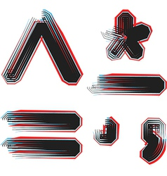 abstract font symbol vector image