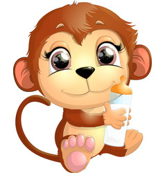 beautiful cute monkey vector image