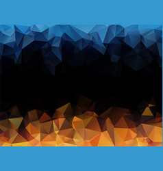 blue orange black abstract triangular background vector image