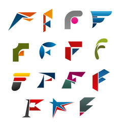 business corporate identity symbol of letter f vector image
