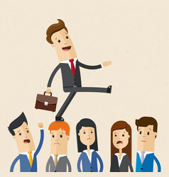 businessman careerist and group of colleagues vector image