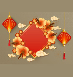 Chinese new year or oriental festival party vector