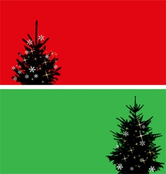 Christmas tree banners set vector image