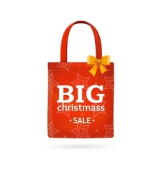 Christmass Sale Fabric Cloth Bag Tote vector image