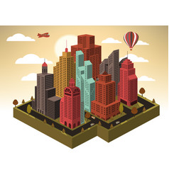city in perspective vector image