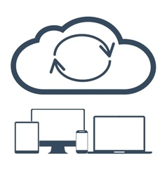 Cloud computing Network Connected all Devices vector image