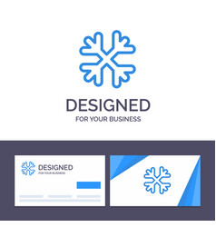 creative business card and logo template snow vector image