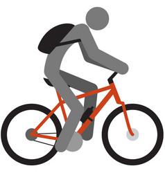 Cycling icon man bike cyclist silhouette vector