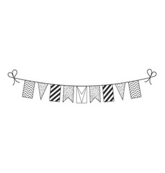 Decorations bunting flags for guyana national day vector