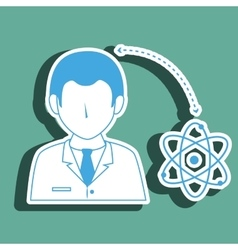 Doctor with atom isolated icon design vector