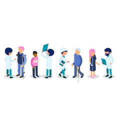 doctors disabled people disabilities persons vector image