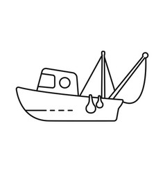 Fishery and trawler symbol vector