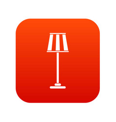 floor lamp icon digital red vector image