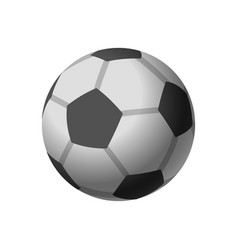 football icon soccerball isolated on white vector image