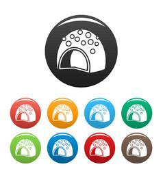 Fruit bonbon icons set color vector