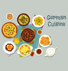 German cuisine meat dishes icon for dinner design vector