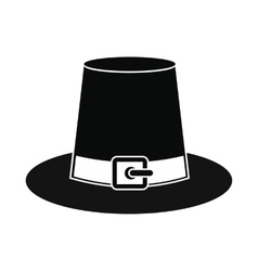 Gorgeous pilgrim hat icon vector image