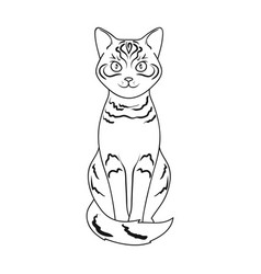 Gray catanimals single icon in outline style vector