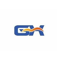 GX letter logo vector