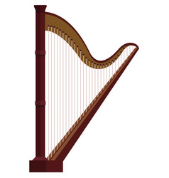 harp music icon flat isolated vector image