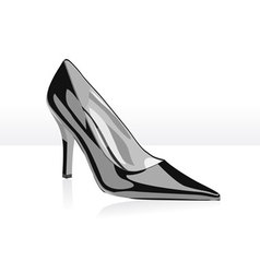High heel black woman shoe vector