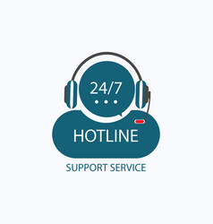 Hotline support icon vector