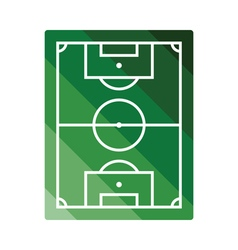 Icon of aerial view soccer field vector image vector image