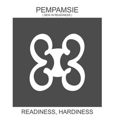 Icon with african adinkra symbol pempamsie vector