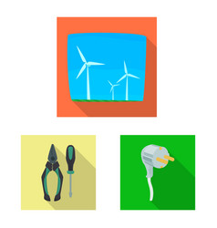 isolated object of electricity and electric logo vector image