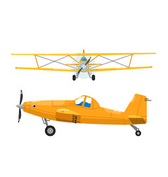 light aircrafts set isolated biplane vector image