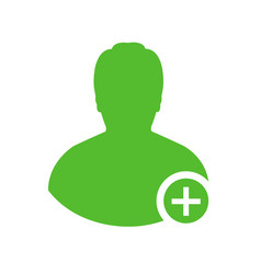 Male medical doctor icon with medical aid cross vector