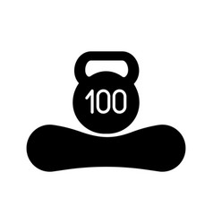 Maximum weight limit up to 100 kg glyph icon vector