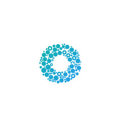 O particle letter logo icon design vector