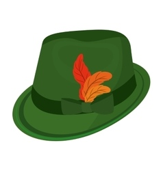 Oktober fest hat isolated icon vector