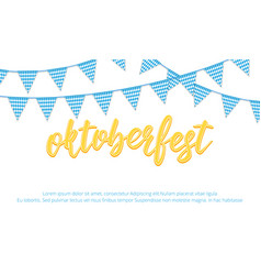 oktoberfest banner background with oktoberfest vector image