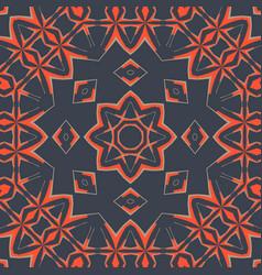 Ornamental print card cover mandala art vector