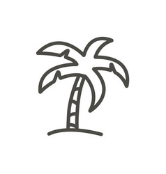 palm icon line beach tree symbol isolated vector image
