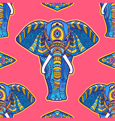pattern elephant geometric circle element made in vector image