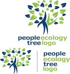 People ecology tree logo 10 vector