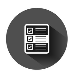 Questionnaire icon in flat style online survey on vector