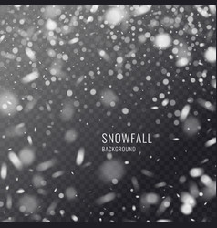 realistic snowflake against a dark vector image