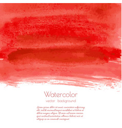 Red rose watercolor texture background vector