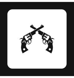 Revolvers icon simple style vector