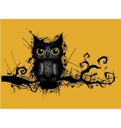 Rough grungy owl vector