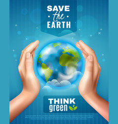save earth ecology poster vector image