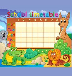 School timetable theme image 8 vector