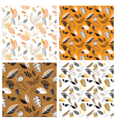 Seamless pattern with acorns and autumn leaves in vector